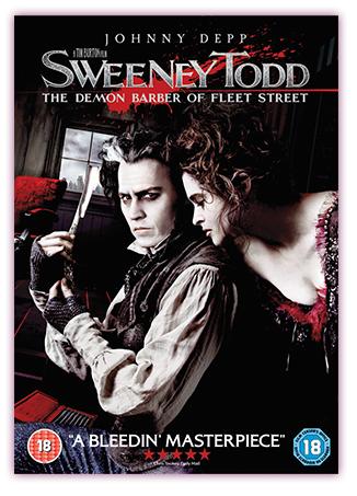 Sweeney Todd The Demon Barber Of Fleet Street DVD Cover